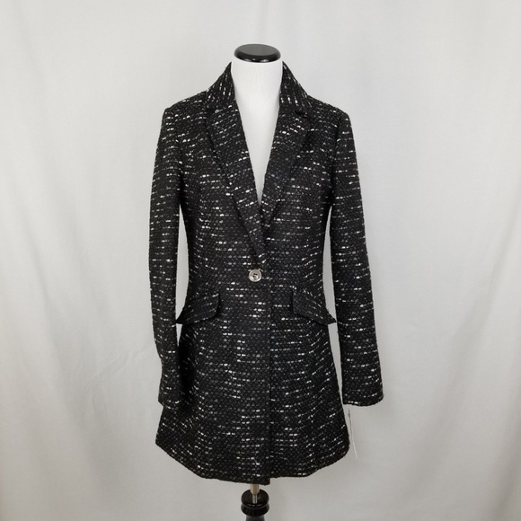 Kenneth Cole Jackets & Blazers - NWT Kenneth Cole NY Ribbon Tweed Notch Collar Coat